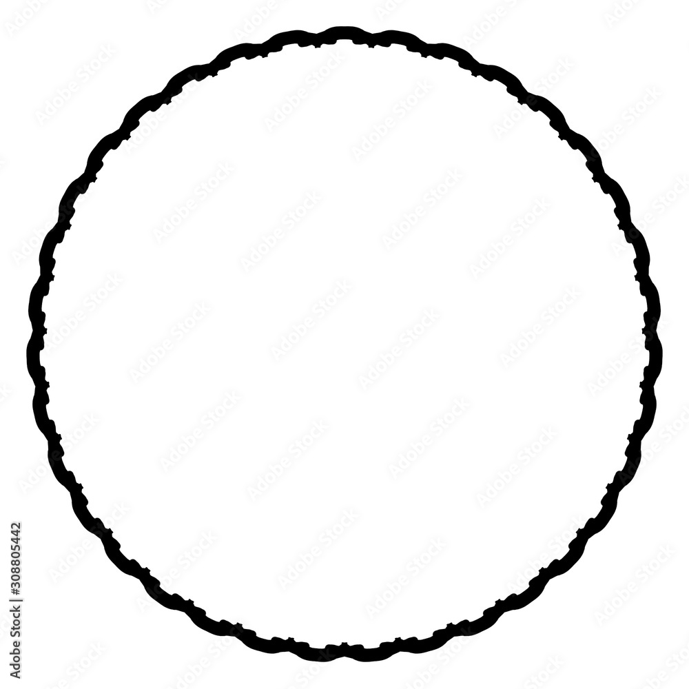 Rounded frame simple black white stamp put text decor vintage theme simple single. Part Art web sign lace icon style copy space blank empty card label badge Kite rays oval wave curl shape swirl lines - obrazy, fototapety, plakaty