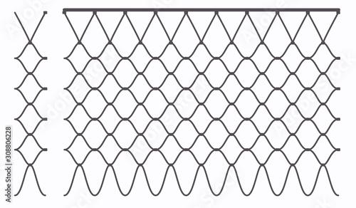 Basketball hoop ring outline net seamless pattern Fototapet