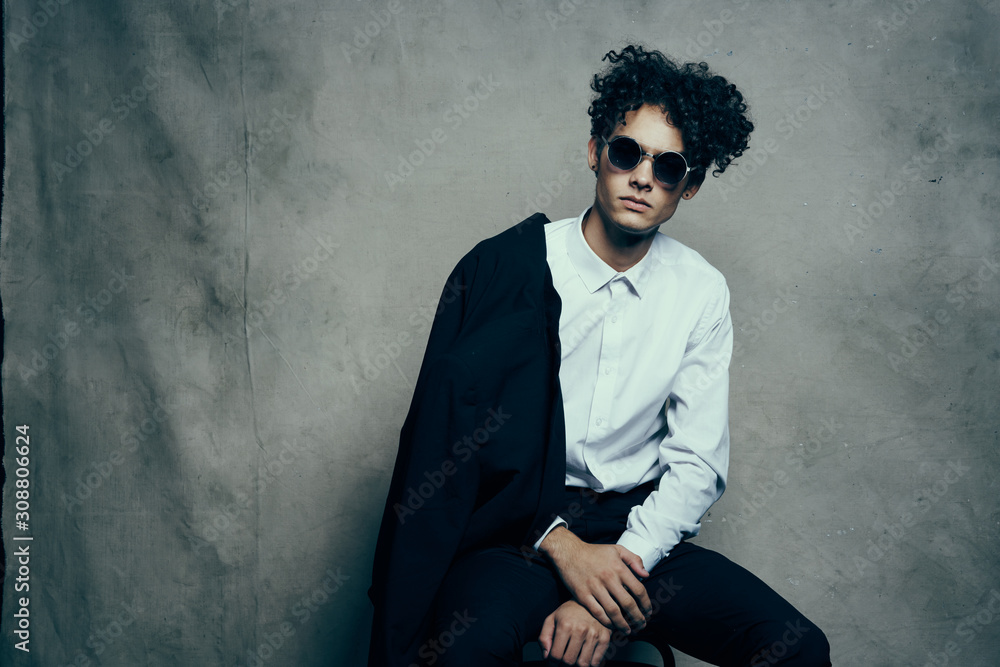Fototapeta portrait of young man in sunglasses
