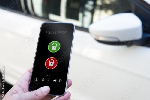 Fotomural smarphone keyless car application