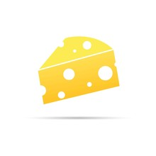 Cheese Icon. Slice Of Cheese I...
