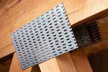Detail Of A Truss With Galvanized Nail Plates.