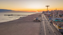 Aerial View On Coney Island An...
