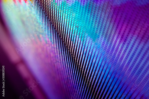 CloseUp LED blurred screen. LED soft focus background. abstract background ideal for design. - 308839241