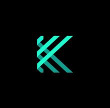 3d Letter K Logo Vector Download