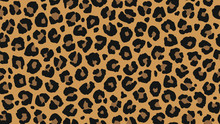 Seamless Leopard Fur Pattern. Fashionable Wild Leopard Print Background. Modern Panther Animal Fabric Textile Print Design. Stylish Vector Color Illustration.