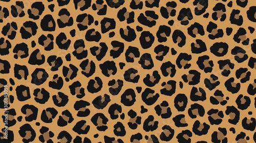 Canvas-taulu Seamless leopard fur pattern