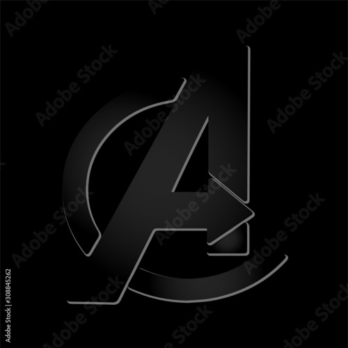 Photo A alphabet Logo template - Illustration