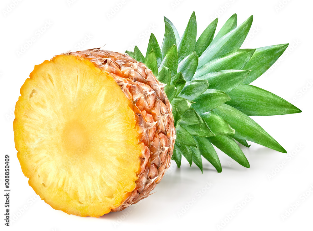 Fototapeta Pineapple isolated on white background. Ripe pineapple Clipping Path.