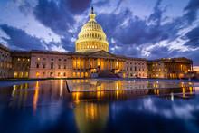 Storm Rising Over United States Capitol Building, Washington DC