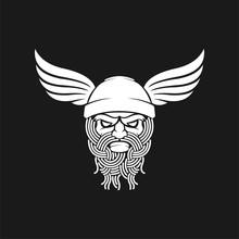 Ancient Viking Head For Mascot
