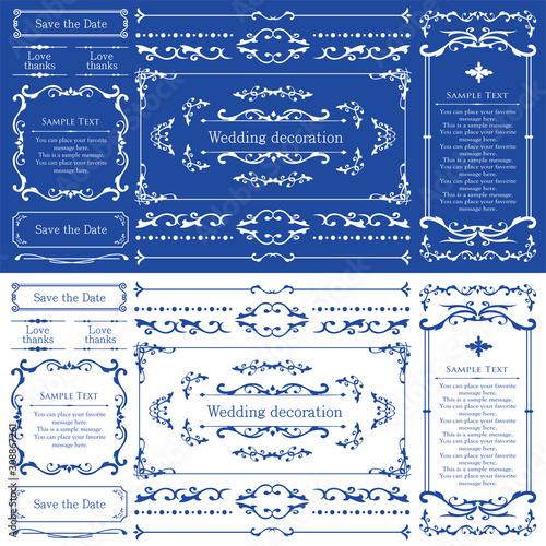 ウェディング デコレーション素材 ブライダル 結婚式の招待状 Canvas Print