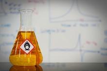 Erlenmeyer Flask With Orange L...