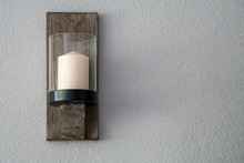 Wall Hung Candle Sconce Rustic...