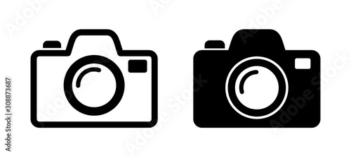 aparat fotograficzny ikona - fototapety na wymiar