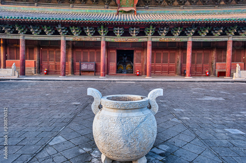 A Chinese Temple Canvas Print
