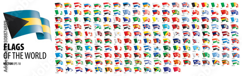 National flags of the countries Canvas
