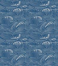 Japanese Storm Sea Wave Seamle...
