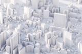 Układ nowoczesnego miasta z widokiem z lotu ptaka. Renderowanie 3d.
