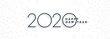 Leinwanddruck Bild - clean minimal 2020 happy new year white banner design