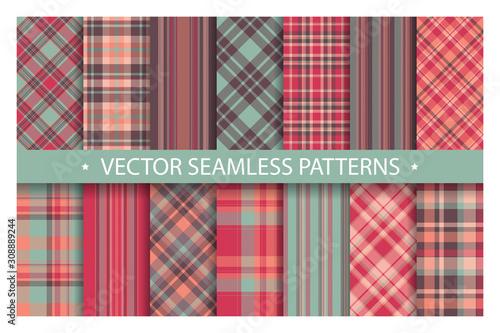Plaid pattern seamless ornate Fototapet