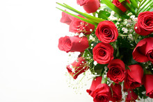 A Gift Of A Bouquet Of Roses O...