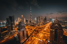 High Angle View Of Dubai Skyline