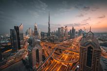High Angle View Of Dubai Skyli...