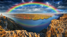 Rainbow Over The River. Canyon...