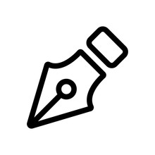 Pen For Letter Icon Vector. Thin Line Sign. Isolated Contour Symbol Illustration