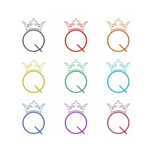 Q Letter Silhouette. Medieval ...
