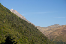 View In The Distance Of The Col Du Tourmalet Et Pic Du Midi De Bigorre Dans Les Pyrénées