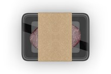 Meat Food Tray With Blank Pape...