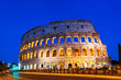 canvas print picture - Rome Colosseum at night