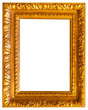 Picture frame isolated interior vintage art gold baguette
