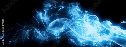 Spoed Foto op Canvas Fractal waves 抽象的な煙