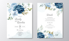 Hand Drawn Floral Wedding Invi...