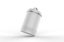 Vintage Blank Tin Container For Branding And Design. 3d Render Illustration.