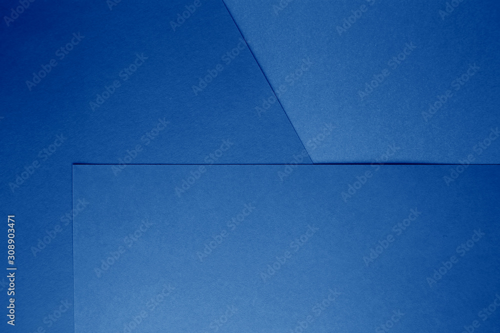 Fototapeta Classic Blue background. Color of the year 2020. Trendy Classic Blue color.