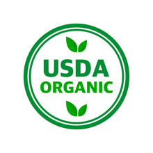 USDA Organic Shield Sign, Symb...
