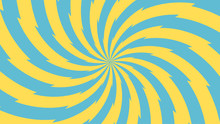 Vector - Yellow And Blue Abstract Sun Background.Bursting,Radial,radiating Pattern