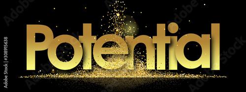 Fototapeta Potential in golden stars background