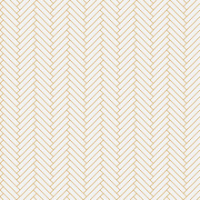 Abstract Seamless Background Pattern Like Parquet In Gold Color. Transparent Pattern