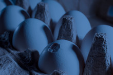 Blue. Abstraction. Сracked Wh...