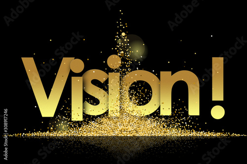 Obraz vision in golden stars and black background - fototapety do salonu