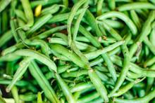 Fresh Green Long Bean Bunch In...
