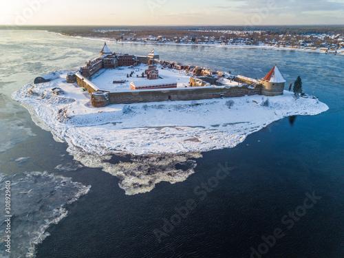 Oreshek fortress on Lake Ladoga Fototapeta