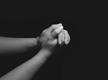 Praying Hands: Holding Hands In The Dark