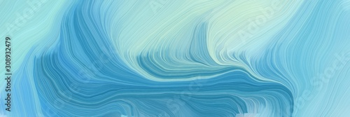 Cuadros en Lienzo horizontal banner with waves