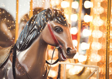 Merry Go Round Christmas Lights Background